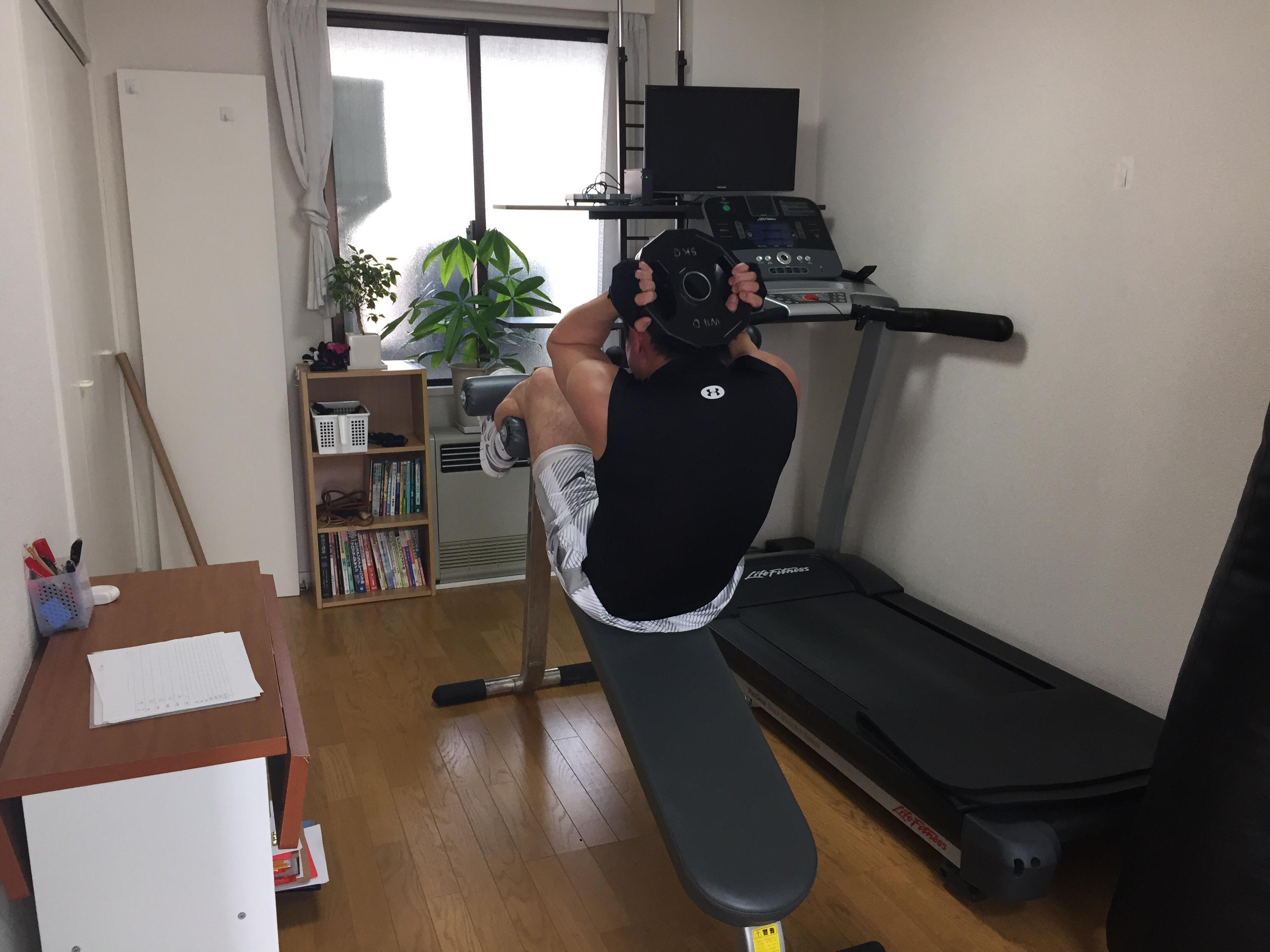 プロフィットでの腹筋運動