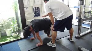 腹筋のトレーニング