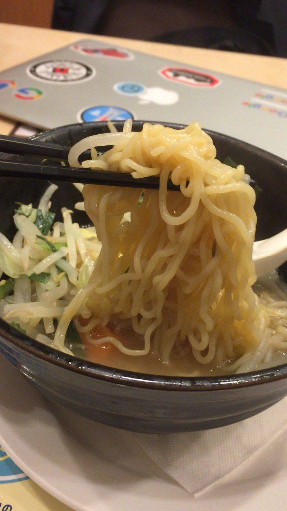 ガストの1日分の野菜のベジ塩タンメン(糖質0麺)